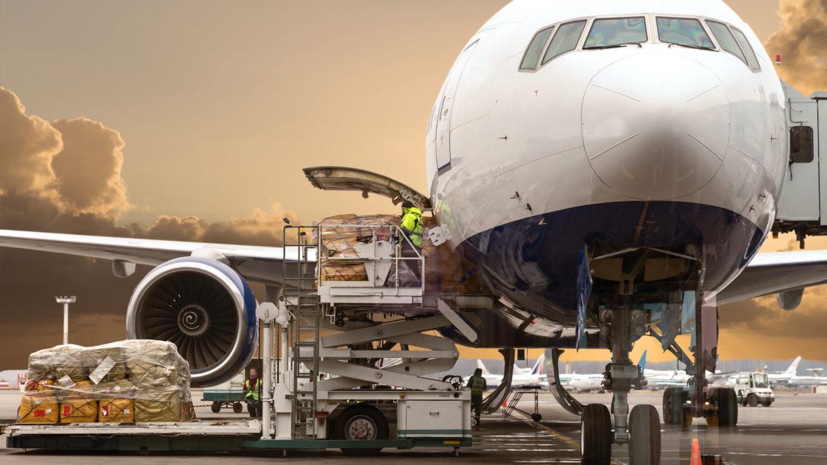 Air cargo volumes fell