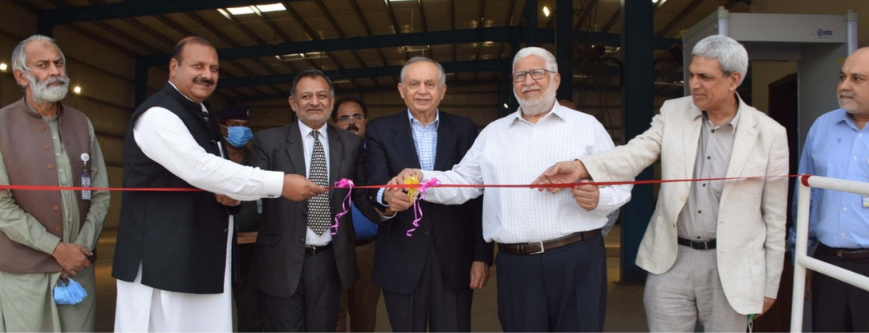 Advisor to the Prime Minister on trade Abdul Razak Dawood inaugurates new cargo shed at SIAL